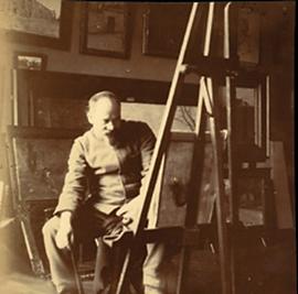 Fernand Maillaud dans son atelier, Jenny