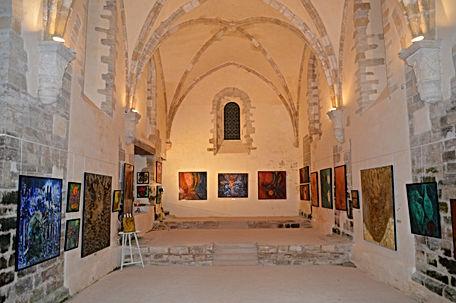 Exposition Juliette Mills dans l'église abbatiale, 2013