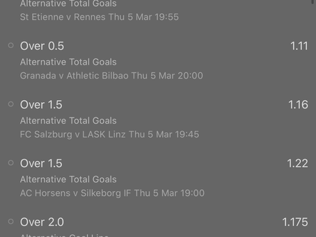 Acca for this evening