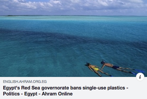 Egypt's Red Sea governorate bans single-use plastics