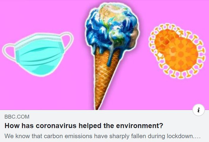 How has coronavirus helped the environment?