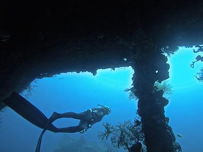 Freediving wreck