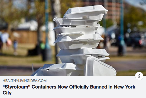 """STYROFOAM"" CONTAINERS NOW OFFICIALLY BANNED IN NEW YORK CITY"