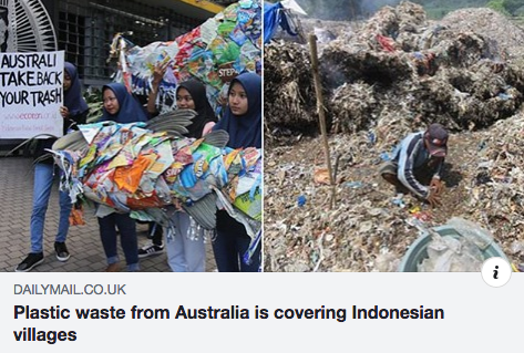 Villages in East Java region of Indonesia are being blanketed by global rubbish