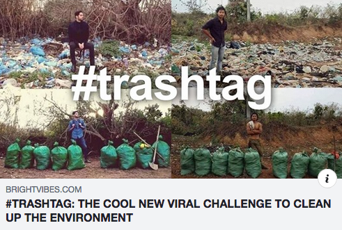 #TRASHTAG: THE COOL NEW VIRAL CHALLENGE TO CLEAN UP THE ENVIRONMENT