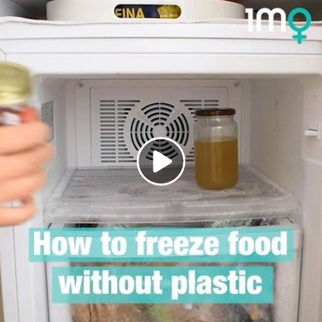 How to freeze food without plastic!