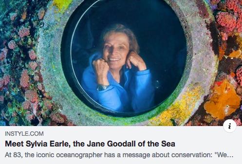 Ocean Warrior and Savior: Sylvia Earle!!!!