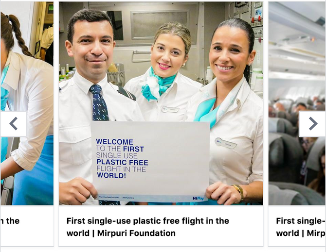First single-use plastic free flight in the world!