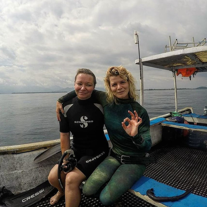 Open water session of Level 1 Freediving Course:)