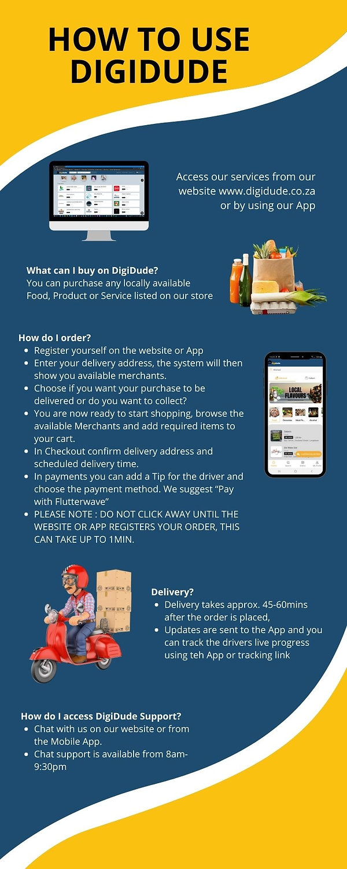 How to use DigiDude Infographic www.digidude.co.za