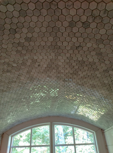 Marble Hexagon Ceiling Tile