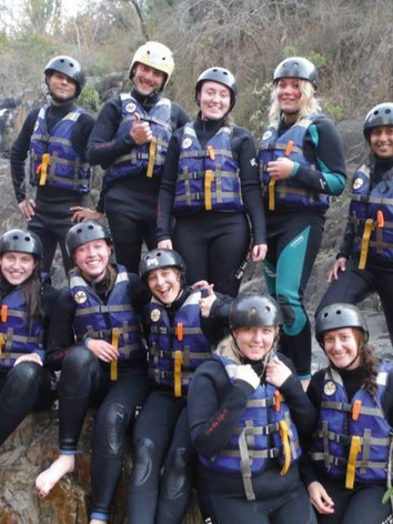White water tubing and waterfall jumps