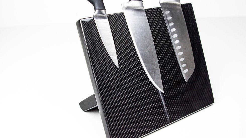 Carbon Messerbrett magnetisch / Carbon Fibre Magnetic Knife Board