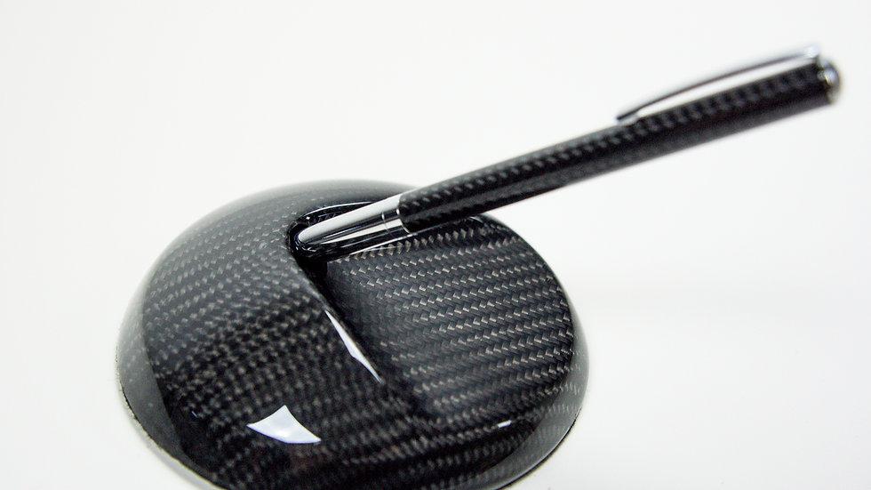 Carbon Stiftständer Stifthalter mit Kugelschreiber / Carbon Fibre Pen Holder