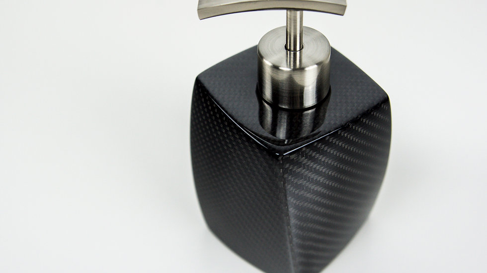 Seifenspender Carbon - Wave Design / Soap Dispenser