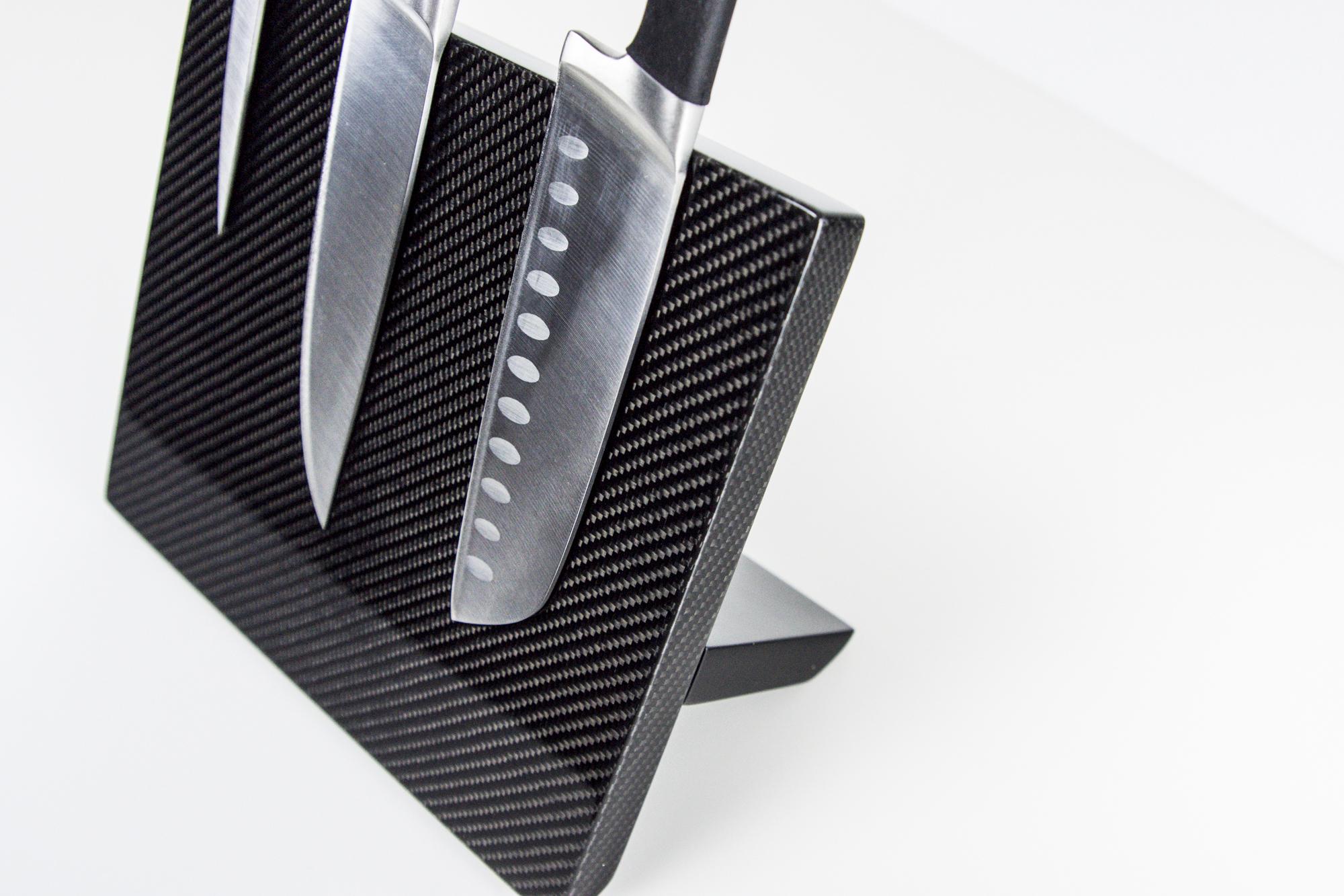 Magnetisches Messerbrett aus Carbon