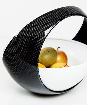 Exklusiver Carbon Obstkorb Luxus Küchenmöbel