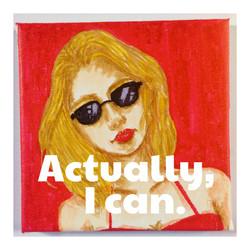 Actually,I can.