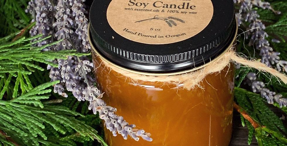 Lavender & Cedar Soy Candle (8oz)