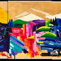 Triptych Jerusalem of Gold