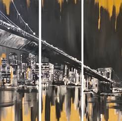 Th Brooklyn Bridge on Gold