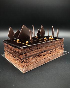 carre chocolat patisserie cake dessert