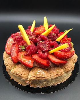 dacquoise tart patisserie cake dessert