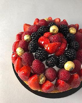 mix fruit tart patisserie cake dessert