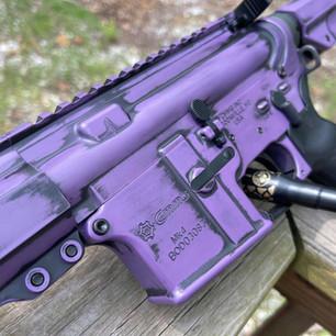 Purple and Black Distressed