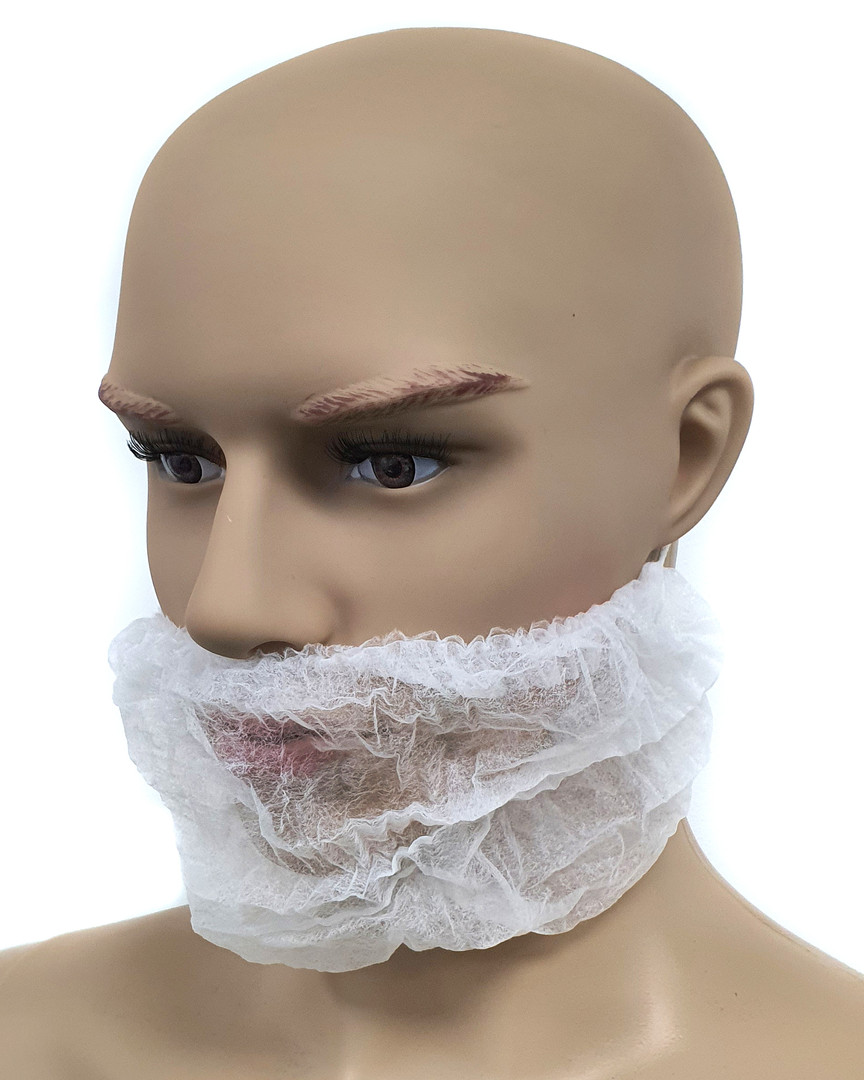 Contechs Medical Beard Mustache Mask - White