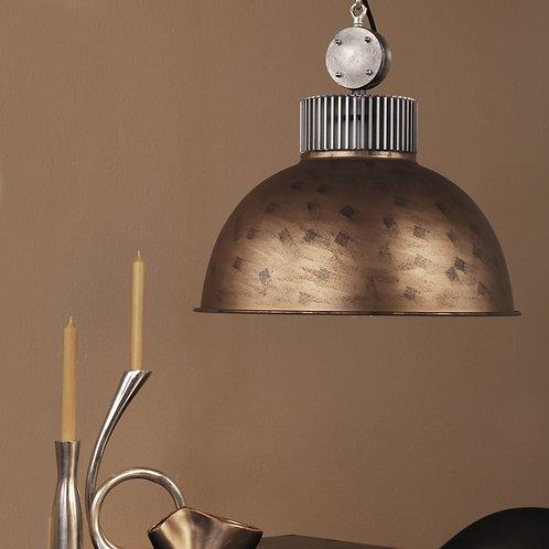 Industriell hengelampe rustbrun - Dinko