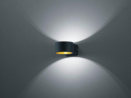 Vegglampe svart LED - Lacapo