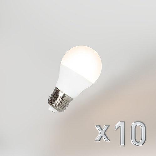 LED G45 E27 5W 3000K 10 stk
