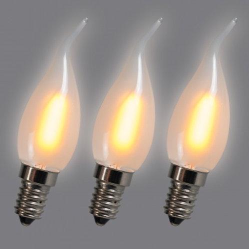 LED C35T E14 1W 2200K 3 stk