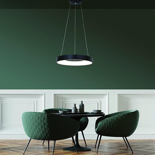 Design hengelampe LED svart - Ringlede