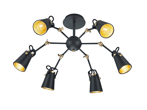 Design taklampe svart - Edward
