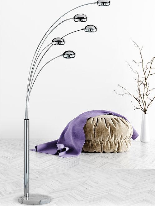 Design gulvlampe krom - Five Fingers