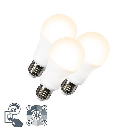 LED lyspære A60 12W E27 3000K 4-trinn dimbar