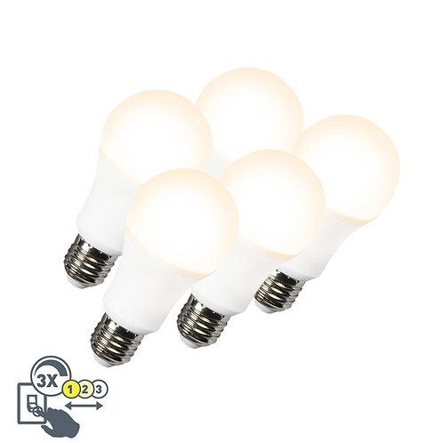 LED lyspære A60 12W E27 3in1 5 stk