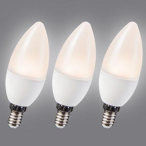 LED 3.5W E14 C30 WW 3 stk