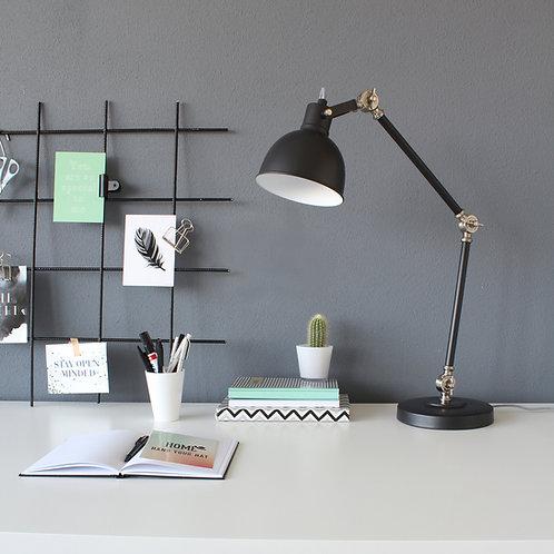 Industriell bordlampe svart - Dominique