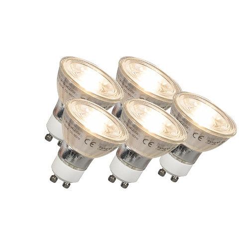GU10 LED COB 5W 380LM 2700K 5 stk