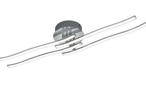 Design taklampe krom LED - Catoki II