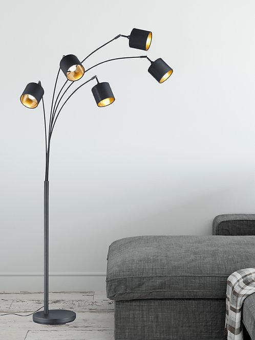 Design gulvlampe svart - Kay