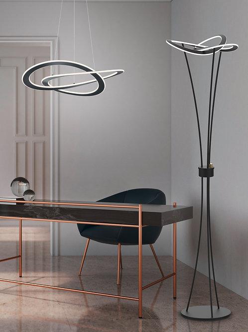 Design gulvlampe svart - Oakland