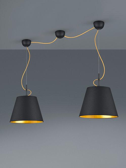 Design hengelampe svart - Andreus 2