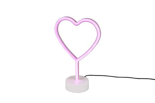 Bordlampe hvit - Heart