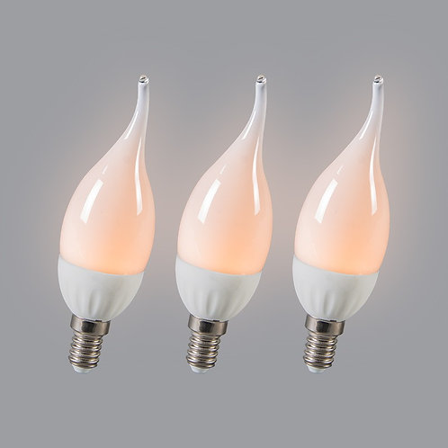 LED E14 3W 250 lumen 3 stk