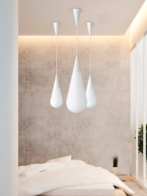 Hengelampe hvit - Toulon