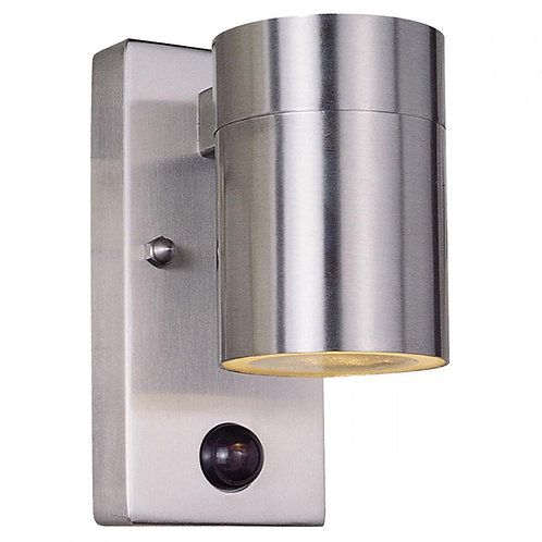 Vegglampe rustfritt stål med sensor - Lier down